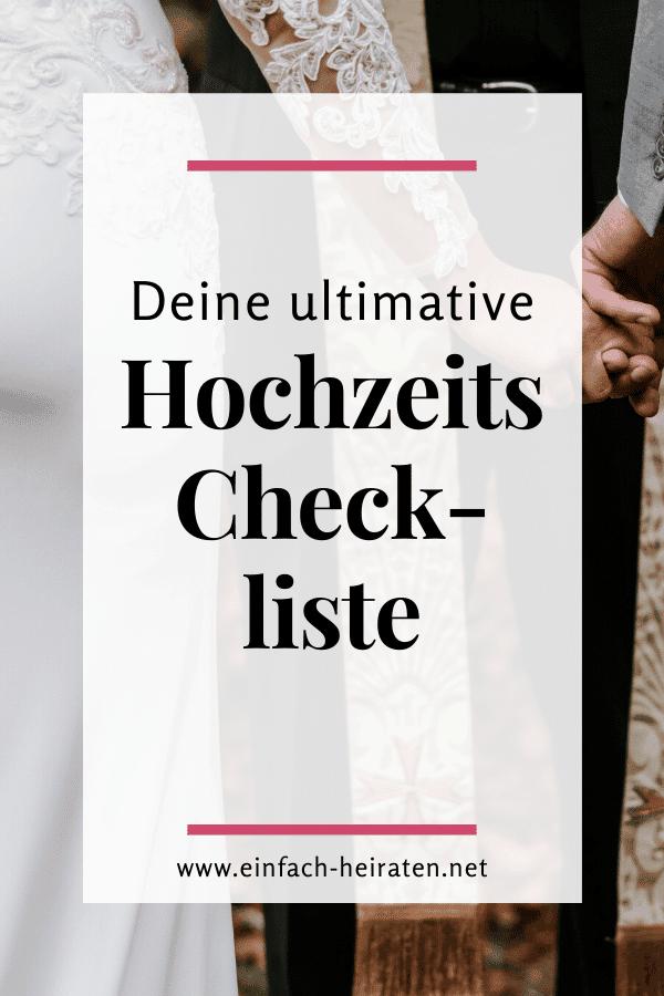 Hochzeitsplanung Checkliste zum Download