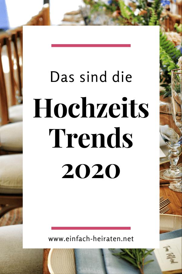 Hochzeits-Trends 2020