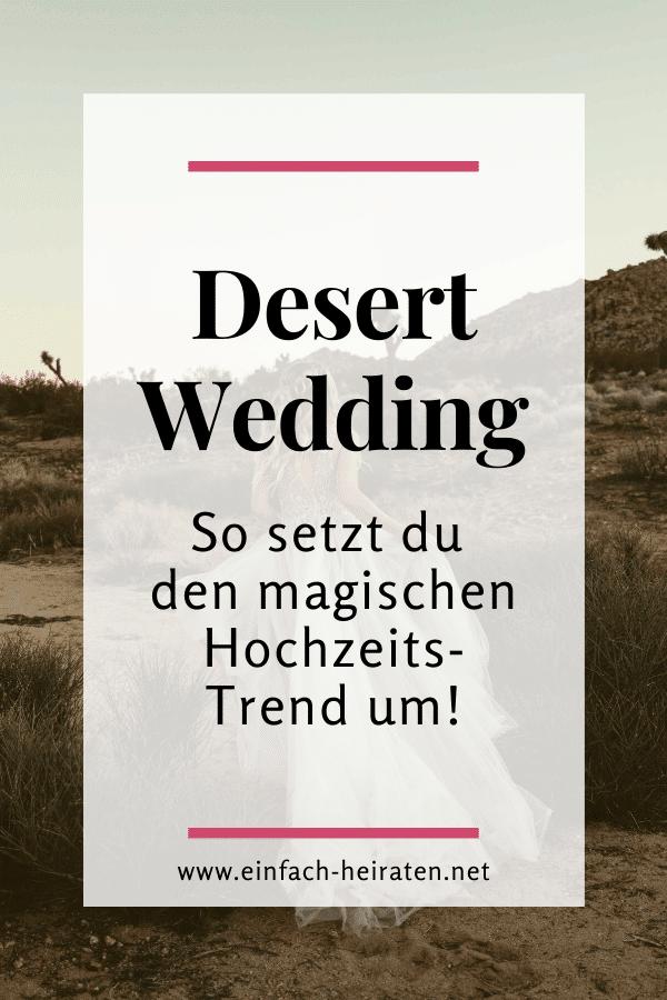 Desert Wedding so setzt du den Hochzeits-Trend um