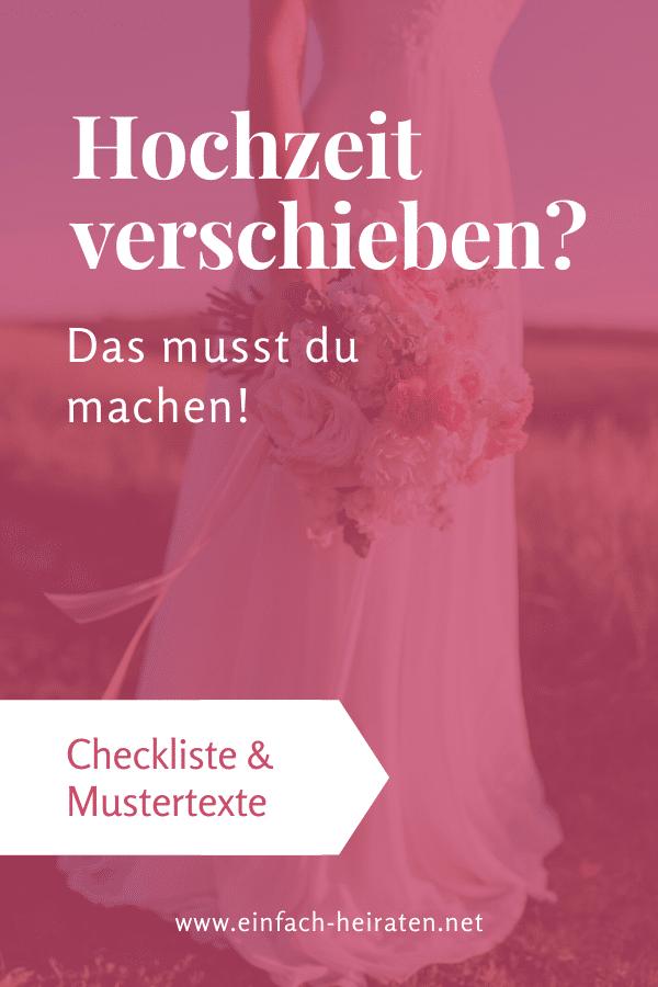 Hochzeit verschieben Mustertexte