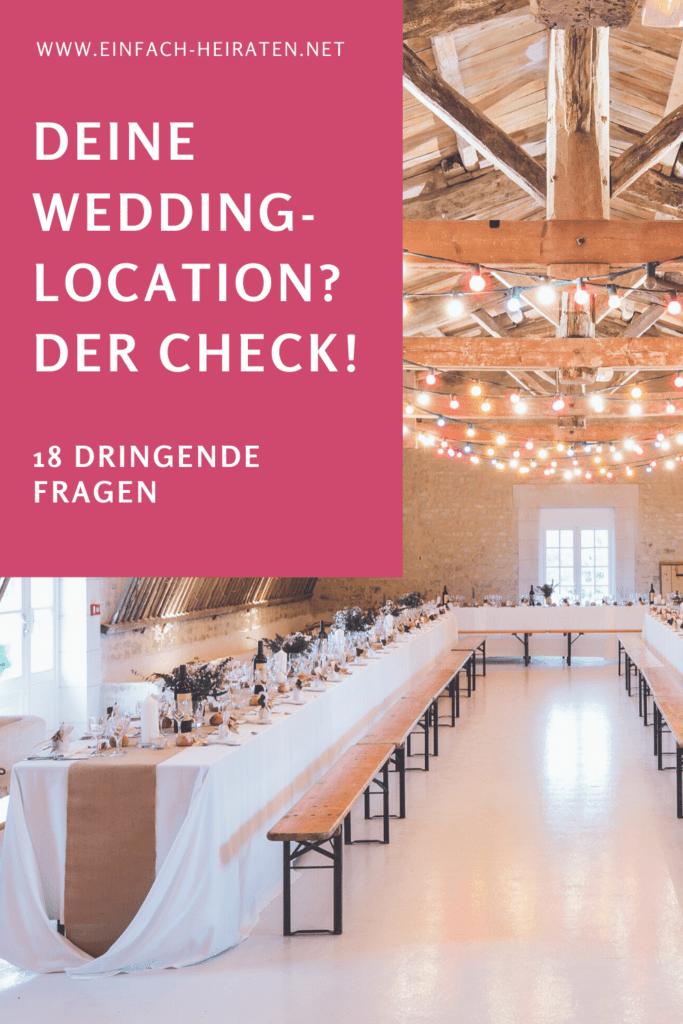 Hochzeits-Location Checkliste