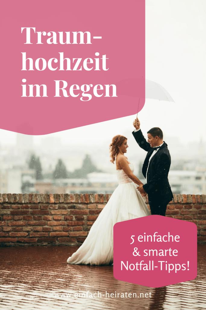 Heiraten im Regen