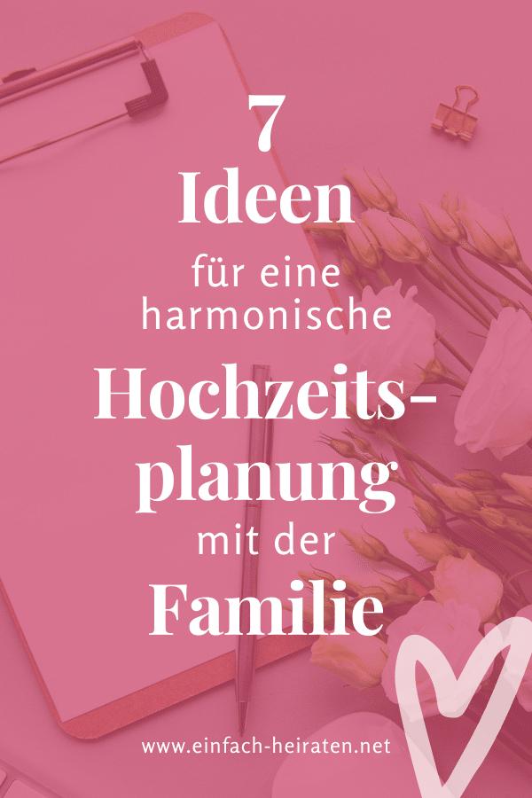 Familie in die Hochzeitsplanung einbeziehen