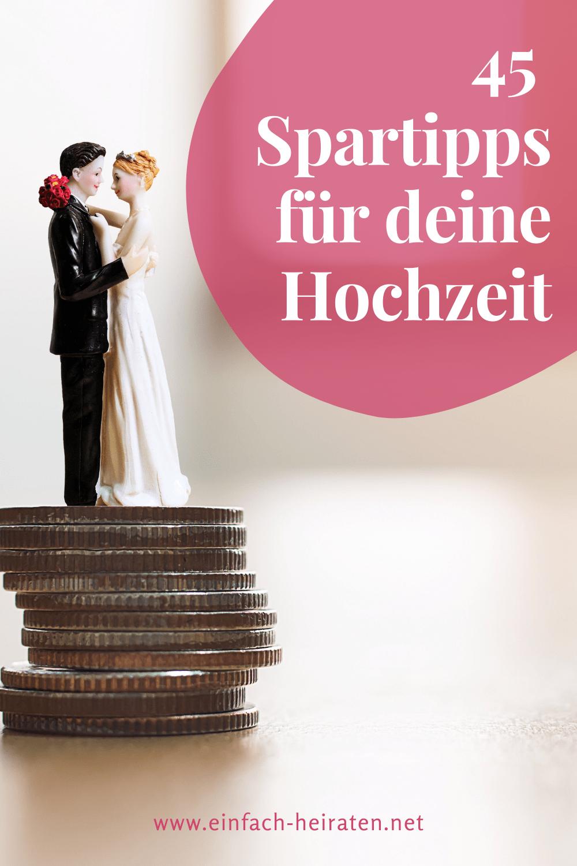 günstig heiraten mit 45 Spartipps für die Hochzeit