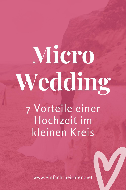 Micro Wedding feiern